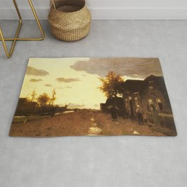Along The Canal 1893 By Johan Hendrik Weissenbruch | Reproduction Rug