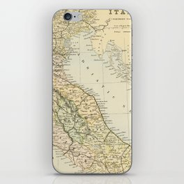 Retro & Vintage Map of Northern Italy iPhone Skin