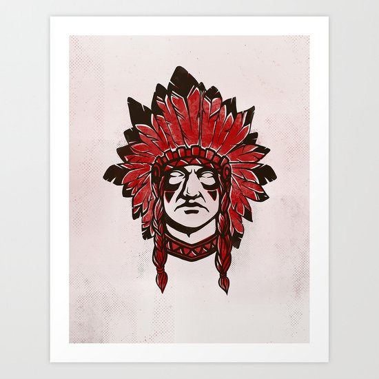 faceless (Indian) Art Print