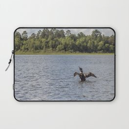 A Common Loon Fishing in the Summer Laptop Sleeve