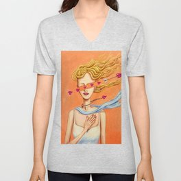 Do you remember the moment you fell in love? Unisex V-Neck