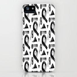 Geometrica, Black & White iPhone Case