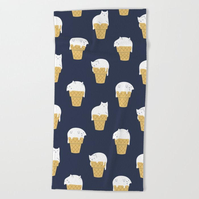 Meowlting Pattern Beach Towel