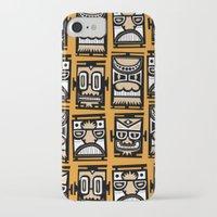 tiki iPhone & iPod Cases featuring Tiki Tiki by Ceskus
