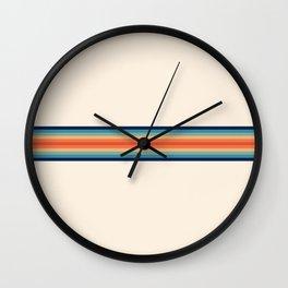 Retro 70s Vintage Summer Style Stripes - Conima Wall Clock