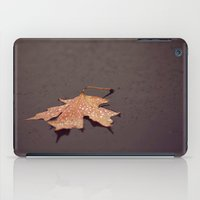 camus iPad Cases featuring Autumn is a second spring when every leaf is a flower ~ albert camus by Jenny Ardell
