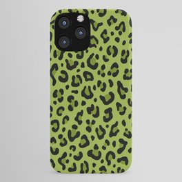 PSYCHOBILLY GREEN LEOPARD PRINT – Lime Green | Collection : Leopard spots – Punk Rock Animal Prints. iPhone Case