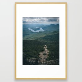 Lake Placid from Whiteface Mountain Framed Art Print