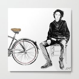 I Want to Ride My Bike Metal Print