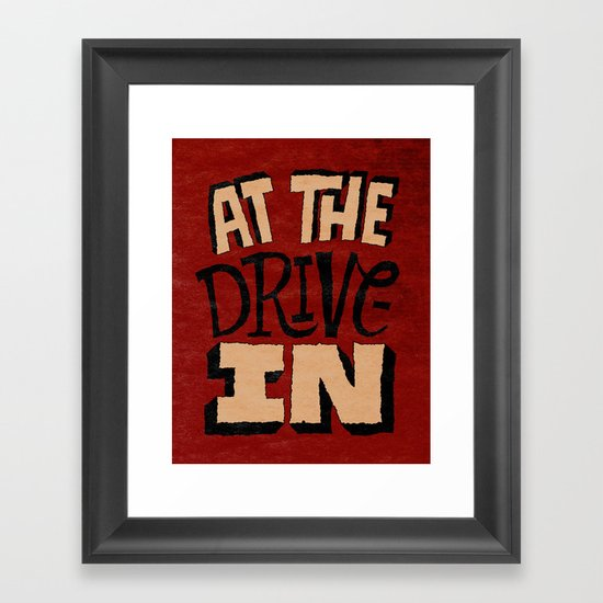 At the Drive-In Framed Art Print