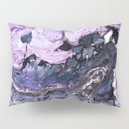 Purple Midnight Blue Rocky Texture Pillow Sham