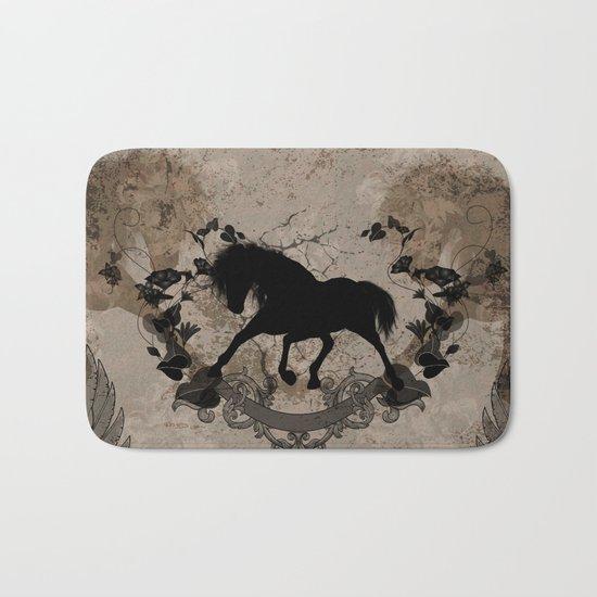 Horse silhouette Bath Mat