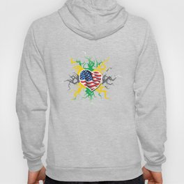 Vintage Funny Jamaican Blood Gift for Americans of Jamaican Heritage Hoody