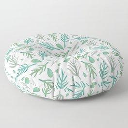 Baesic Watercolor Leaves Floor Pillow