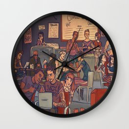 Clint's Coffee Wall Clock
