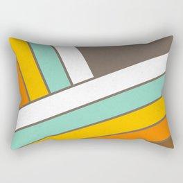 Retro 70s Stripes  -  Abstract Geometric Design Rectangular Pillow