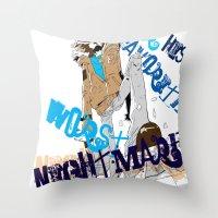 ezra koenig Throw Pillows featuring Ezra  by underthebridge