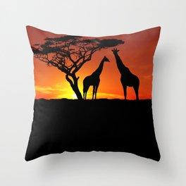 Africa Throw Pillow