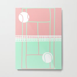 Postmodern Tennis Court Metal Print