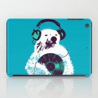 record iPad Cases featuring Record Bear by Picomodi