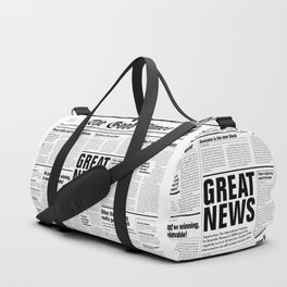 The Good Times Vol. 1, No. 1 / Newspaper with only good news Duffle Bag