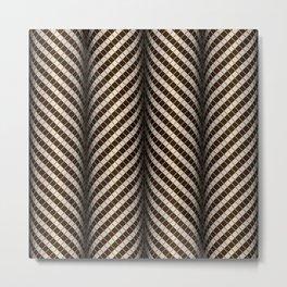 Optical wavy brown pattern Metal Print