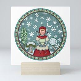 peaceful snow 2 Mini Art Print