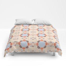 Blue Retro Tile Comforters