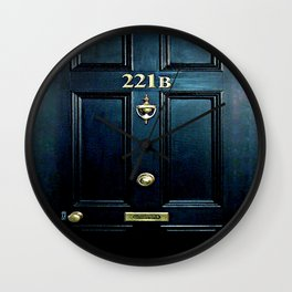 Baker st house 221b door iPhone 4 4s 5 5c 6, pillow case, mugs and tshirt Wall Clock