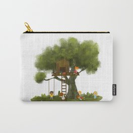 Tree Kids House Carry-All Pouch