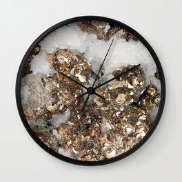 Pyrite and Quartz Wall Clock