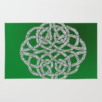 celtic Area & Throw Rugs featuring Celtic Swirl by artdamnit
