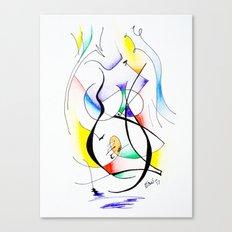 Cuerpo de mujer (estudio) Canvas Print