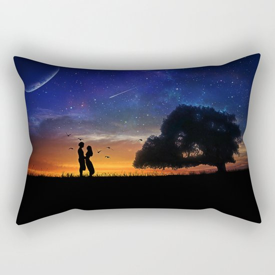 Alone in the Universe Rectangular Pillow