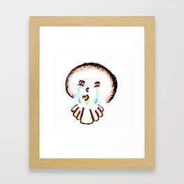 Sad Clown Framed Art Print