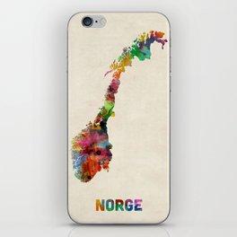 Norway Watercolor Map iPhone Skin