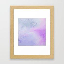 Soft Watercolours - Lavendar Framed Art Print