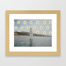 Happy Surfing Framed Art Print