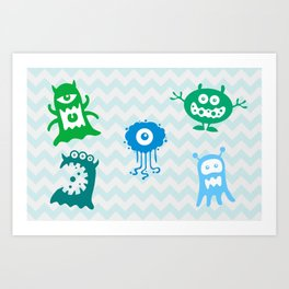 MONSTERS! Art Print