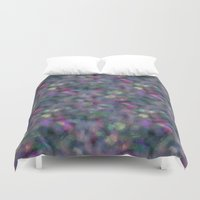 hologram Duvet Covers featuring Dark holographic by ravynka