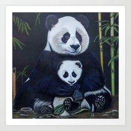 Giant Pandas Art Print