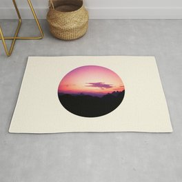 Fuchsia & Purple Sunset Mountains Rug