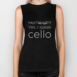 Yes, I speak cello Biker Tank