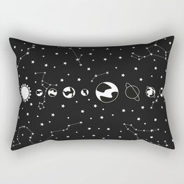 What's wrong? - Solar System Illustration Rectangular Pillow