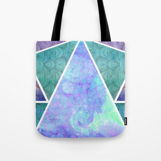 Geometric Reflection Tote Bag