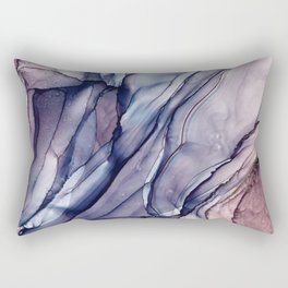 Slate Purple and Sparkle Flowing Abstract Rectangular Pillow