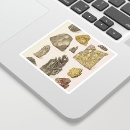 Vintage Gold Minerals Sticker
