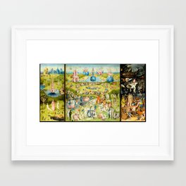 The Garden of Earthly Delights by Bosch Framed Art Print