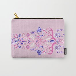 La Vie & La Mort – Pink & Periwinkle Carry-All Pouch