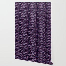 Yoga girl making asanas pattern Wallpaper